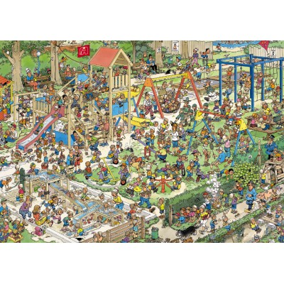 Jumbo-01599 Jigsaw Puzzle - 1000 Pieces - Jan van Haasteren : The Playground