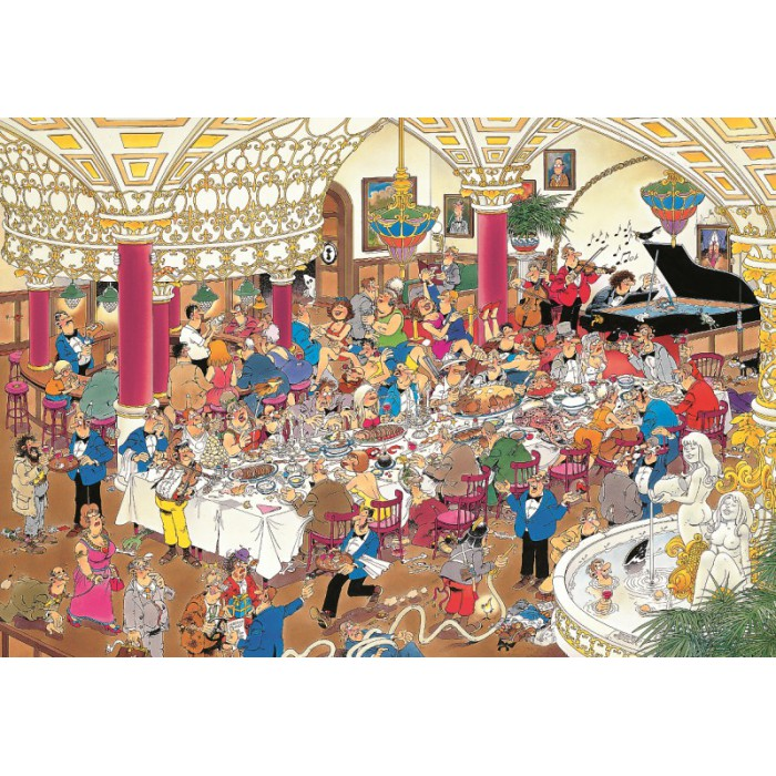 Jigsaw Puzzle - 1000 Pieces - Jan van Haasteren: The Wedding