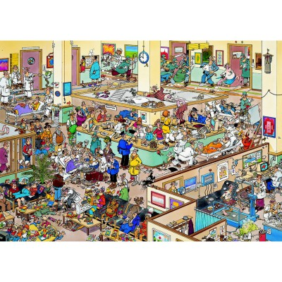Jumbo-01650 Jigsaw Puzzle - 1000 Pieces - Jan Van Haasteren : Get Well Soon
