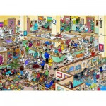 Jumbo-01650 Jigsaw Puzzle - 1000 Pieces - Jan Van Haasteren : Get Well Soon