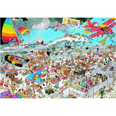 Jumbo-01652 Jigsaw Puzzle - 1000 Pieces - Jan van Haasteren: On the Beach