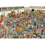 Jumbo-01886 Jigsaw Puzzle - 1000 Pieces - Jan Van Haasteren : The Ancient Show