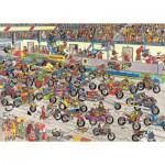 Jumbo-02046 Jigsaw Puzzle - 1000 Pieces - Jan van Haasteren: Motorbike Race