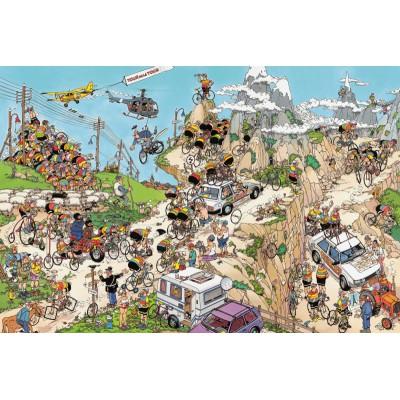 Jumbo-02086 Jigsaw Puzzle Jan Van Haasteren 1,500 Pieces - The Tour de France