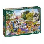 Puzzle  Jumbo-11301 Village Church Car Boot Sale