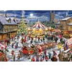 Jumbo-11308 2 Jigsaw Puzzles - Christmas Carrousel