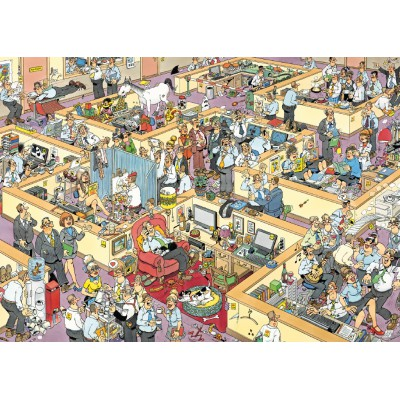 Jumbo-17014 Jigsaw Puzzle - 1000 Pieces - Jan van Haasteren: The Office