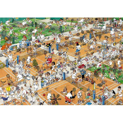 Jumbo-17076 Jigsaw Puzzle - 1000 Pieces - Jan van Haasteren: Tennis Court