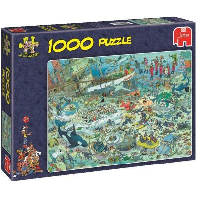 Jumbo-17079 Jigsaw Puzzle - 1000 Pieces - Jan van Haasteren : Underwater Madness