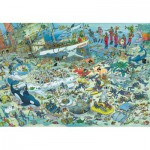 Jumbo-17080 Jigsaw Puzzle - 2000 Pieces - Jan Van Haasteren : Underwater Madness