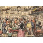 Puzzle  Jumbo-17094 Anton Pieck - The Exposition