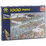 Puzzle  Jumbo-17310 Van Haasteren Jan: Ice Racing
