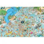 Puzzle  Jumbo-17314 Jan Van Haasteren - Swimming