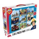 Jumbo-17338 9 Jigsaw Puzzles - Fireman Sam