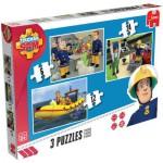 Jumbo-17339 3 Jigsaw Puzzles - Fireman Sam