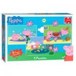Jumbo-17388 3 Jigsaw Puzzles - Peppa Pig