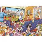 Puzzle  Jumbo-17408 Wasgij Original - Soccer Fever