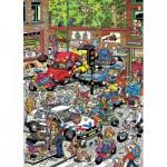 Puzzle  Jumbo-17465 Van Haasteren Jan: Traffic Chaos