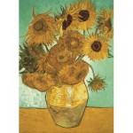 Puzzle  Jumbo-18396 Vincent Van Gogh - Sunflowers