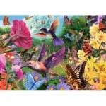 Puzzle  Jumbo-18513 XXL Pieces - Hummingbirds