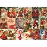 Puzzle  Jumbo-18589 Vintage Santa's
