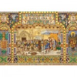 Puzzle  Jumbo-18590 Tiles of Barcelona