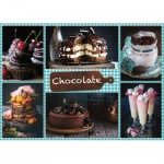 Puzzle  Jumbo-18593 Chocolate