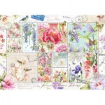 Puzzle  Jumbo-18597 Flower Stamps