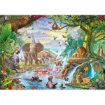 Puzzle  Jumbo-18800 XXL Pieces - Jungle Lake