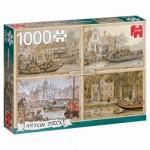 Puzzle  Jumbo-18855 Anton Pieck - Canal Boats