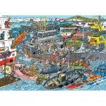 Puzzle  Jumbo-19012 Jan van Haasteren - Sea Port