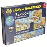 Jumbo-19019 3 Jigsaw Puzzles - Jan van Haasteren: Tour de France