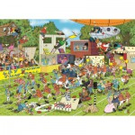 Puzzle  Jumbo-19020 Jan Van Haasteren - Chaos on the Field