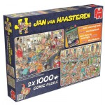 Jumbo-19024 2 Jigsaw Puzzles - Jan Van Haasteren - New Year Party