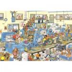 Puzzle  Jumbo-19038 Jan Van Haasteren: The Printing Office