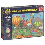 Puzzle  Jumbo-19052 Jan van Haasteren - The Balloon Festival