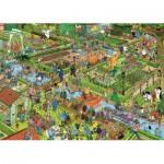 Puzzle  Jumbo-19057 Jan Van Haasteren - The Vegetable Garden