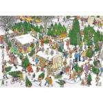Puzzle  Jumbo-19062 Van Haasteren Jan - Christmas Tree Market