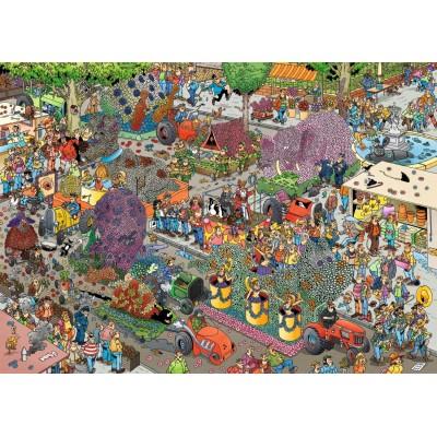 Puzzle Jumbo-19071 Jan Van Haasteren - Flower Parade