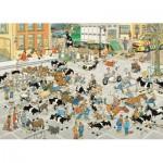 Puzzle  Jumbo-19075 Jan Van Haasteren - The Cattle Market