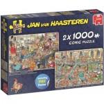 Jumbo-19082 2 Puzzles - Jan Van Haasteren - New Year Party