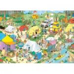 Puzzle  Jumbo-19086 Jan Van Haasteren - Camping in The Forest