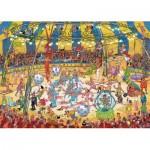 Puzzle  Jumbo-19089 Jan Van Haasteren - Acrobat Circus