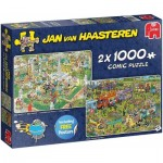 Jumbo-19099 2 Puzzles - Jan Van Haasteren - BBQ Party!