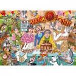Puzzle  Jumbo-19113 Wasgij Original 23 - The Bake Off!