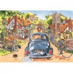 Puzzle  Jumbo-19146 Wasgij Retro Original 1 - Sunday Drivers!