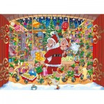 Jumbo-19172 2 Puzzles - Wasgij Christmas 15 - Santa's Unexpected Delivery!