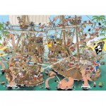 Puzzle  Jumbo-19204 Pieces of History - The Pirates