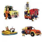 Jumbo-19275 4 Jigsaw Puzzles - Fireman Sam