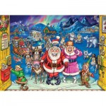 Jumbo-25003 Wasgij Christmas 17 - Elf Inspection (+ 1 Free Puzzle)